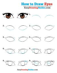 How To Draw Eyes Step By Step How To Draw Eyes Really Easy Drawing Tutorial