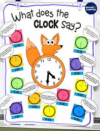 Telling Time Anchor Chart Telling Time Activities For Teaching Primary Students
