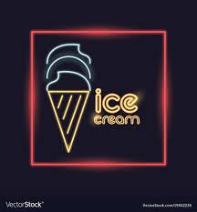 Neon Light Ice Cream Ice Cream Neon Lights