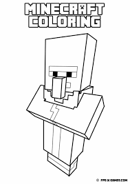 Coloring Pages Minecraft Zombie Coloring Pages Free
