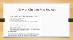 Citing Internet Sources Mla Format