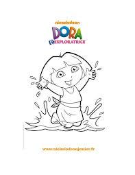 Coloriages Coloriage Imprimer De Dora La Plage Fr Hellokids Com