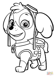 Paw Patrol Skye Coloring Page With Pages Coloring Pages