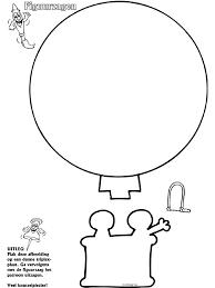 Luchtballon Figuurzagen Knutselpaginanl Knutselen Knutselen