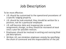 5 job description