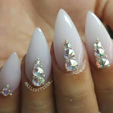 Pointy Nails Designs With Diamonds Tag For Diamonds Nail Art Outstanding Simple Designs With