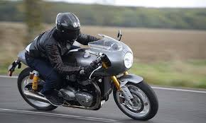 triumph thruxton r track racer ride and review
