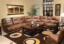 Leather Sectional Living Room Furniture Furniture Sectional Leather Reclining Sofa Ideas In Home And