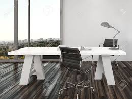 modern home office chairs. modern home office interior design with two chairs on either side of a white desk