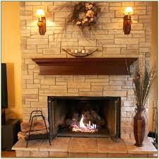 dry stack stone fireplace outdoor