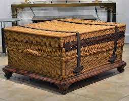 rattan coffee table trunk rattan trunk coffee table