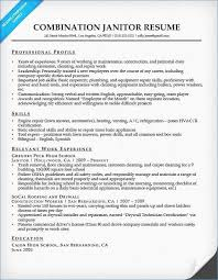 Custodian Resume Sample Janitor Resume Objective Resume Example