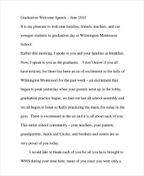 graduation speech samples graduation welcome speech