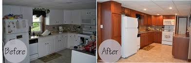 Refinish Kitchen Cabinets Kit Kitchen Cabinet Refacing Before And After