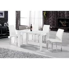 heartlands peru white high gloss cm dining table in wood