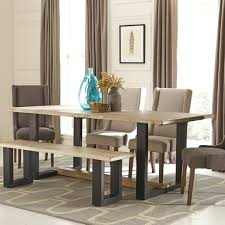 dining tables coaster furniture dining table contemporary with u shaped base by elmwood coaster