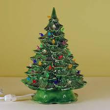 Lighted Ceramic Christmas Tree, Small
