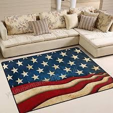 naanle vintage american flag star and stripe non slip area rug for living dinning room bedroom