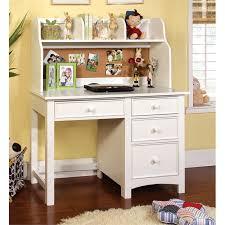 furniture of america ruthie modern kids desk with hutch in white