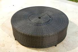 metal outdoor coffee table source outdoor circa round wicker coffee table with ice bucket metal and