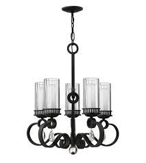 fredrick ramond cabrello 5 light chandelier in black iron fr49465bli photo