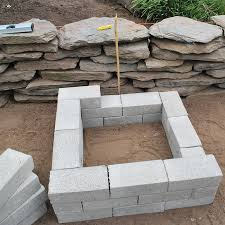 layering brick to create fire pit