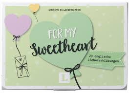 For My Sweetheart Kärtchen Im Hübschen Mäppchen 20 Englische