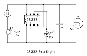 css555 solar engine 7 steps pictures step 1 the basic circuit