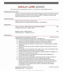 Top Political Science Resume