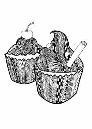 Small Picture Free Colouring Pages Of Cupcakes Printable Cupcake Coloring Pages