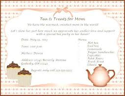 Mothers Day Tea Invitation Party Program Template Invitations For