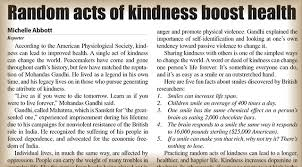 random acts of kindness boost health the puyallup post
