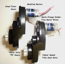power wheels motor toys hobbies pair of power wheels gearboxes and motors for ford f 150 and raptor speed tuned