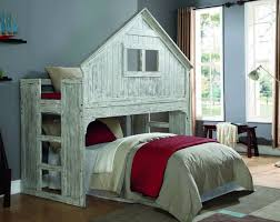 Create your son or daughter's dream room with our cool bunk beds with a  club house