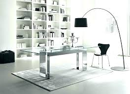 glass office furniture. Office Desk Glass. Glass With Drawers Contemporary Furniture Enchanting For Modern Top