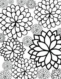 Hard Coloring Pages Of Flowers Coloring Pages To Print Out Regarding