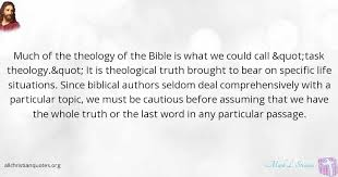 Christian Quotes By Topic Best Of Mark L Strauss Quote About Bible Life Situations Authors