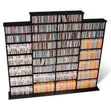 cd dvd wall media storage rack in black