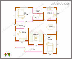 2 Bedroom House Plans Square Magnificent Simple House Plan 2 Simple Square House Plans