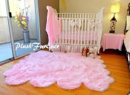5x6 baby pink sheepskin pelt nursery area rug baby girl home decor plushfurever