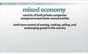 what is a mixed economy definition characteristics examples mixed economy vocabulary definitions