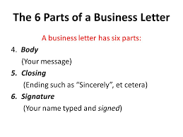 6 letter name six parts of a business letter powerful the 6 scholarschair