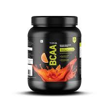 thinq bcaa 100 pure powder pre post workout supplement 250gms orange
