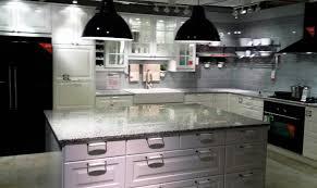 image of luna pearl granite countertops white cabinets