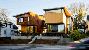 northwest modern home architecture. Two Compact Modern Homes Fill Challenging Empty Lots In An Old, Urban Neighborhood Northwest Home Architecture M