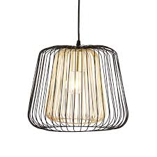 Camparo Wire Black & Gold Pendant Ceiling Light | Departments | DIY at B&Q