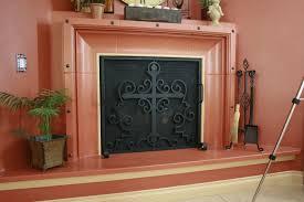 custom made hand forged fireplace screens