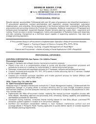 2017 Procurement Specialist Resume Samples Vcuregistry Org