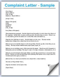 Complaint Format Format to Write A Letter Of Complaint Adriangatton 48