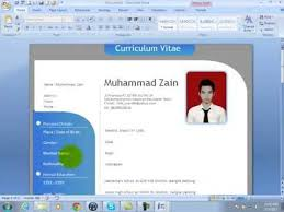 How to make CV in Micrisoft Word 2007 and 2010 using Templates  newsworld2021 blogspot Com
